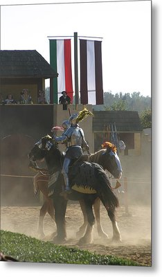 Maryland Renaissance Festival - Jousting And Sword Fighting - 1212175 Metal Print by DC Photographer