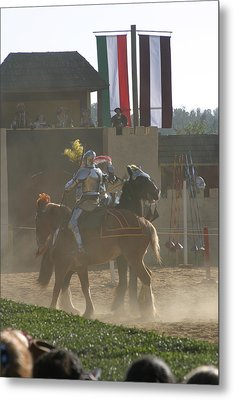 Maryland Renaissance Festival - Jousting And Sword Fighting - 1212178 Metal Print