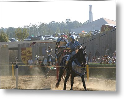 Maryland Renaissance Festival - Jousting And Sword Fighting - 1212189 Metal Print by DC Photographer