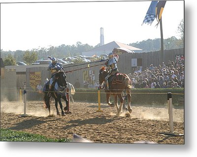 Maryland Renaissance Festival - Jousting And Sword Fighting - 1212192 Metal Print by DC Photographer