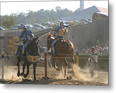 Maryland Renaissance Festival - Jousting And Sword Fighting - 1212197 Metal Print by DC Photographer
