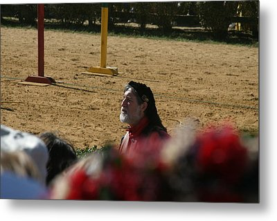 Maryland Renaissance Festival - Jousting And Sword Fighting - 1212199 Metal Print by DC Photographer