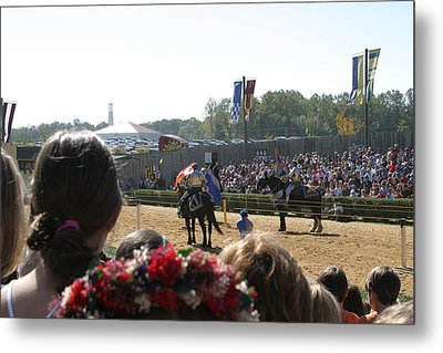 Maryland Renaissance Festival - Jousting And Sword Fighting - 1212209 Metal Print by DC Photographer
