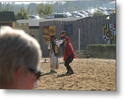 Maryland Renaissance Festival - Jousting And Sword Fighting - 1212213 Metal Print by DC Photographer