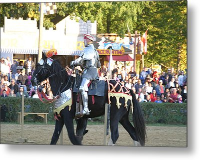 Maryland Renaissance Festival - Jousting And Sword Fighting - 121233 Metal Print