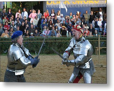 Maryland Renaissance Festival - Jousting And Sword Fighting - 121241 Metal Print by DC Photographer