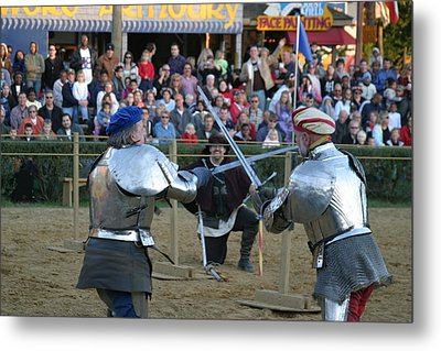 Maryland Renaissance Festival - Jousting And Sword Fighting - 121244 Metal Print by DC Photographer