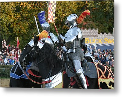 Maryland Renaissance Festival - Jousting And Sword Fighting - 121245 Metal Print
