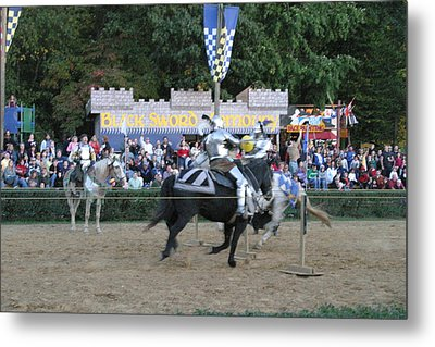 Maryland Renaissance Festival - Jousting And Sword Fighting - 121255 Metal Print