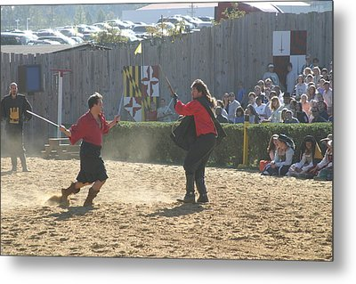 Maryland Renaissance Festival - Jousting And Sword Fighting - 121280 Metal Print by DC Photographer