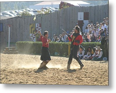 Maryland Renaissance Festival - Jousting And Sword Fighting - 121281 Metal Print