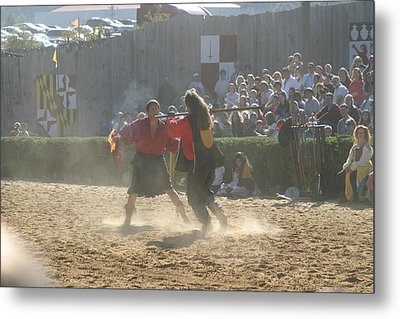 Maryland Renaissance Festival - Jousting And Sword Fighting - 121290 Metal Print by DC Photographer