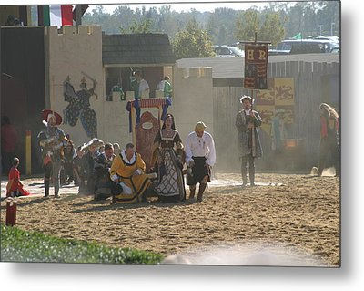 Maryland Renaissance Festival - Jousting And Sword Fighting - 121298 Metal Print