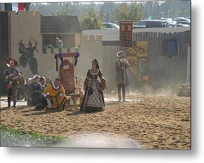 Maryland Renaissance Festival - Jousting And Sword Fighting - 121299 Metal Print