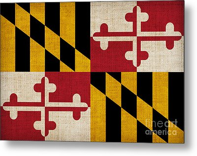 Maryland State Flag Metal Print