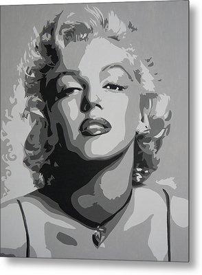 Tribute To Marilyn Monroe Metal Print by Bitten Kari