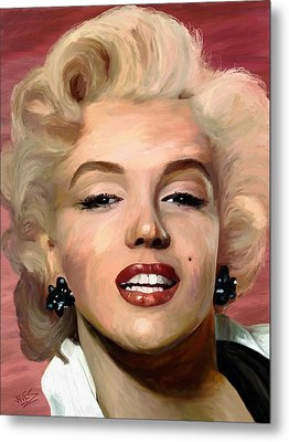 Marylin Monroe Metal Print by James Shepherd