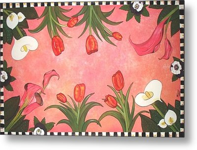 Metal Print featuring the painting Marys Garden by Cindy Micklos