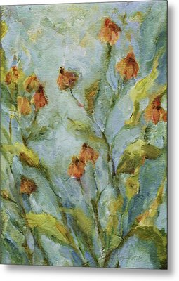 Metal Print featuring the painting Mary's Garden by Mary Wolf