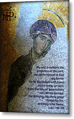 Mary's Magnificat Metal Print by Stephen Stookey