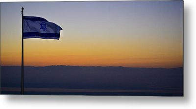 Masada At Sunrise Metal Print