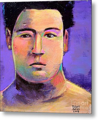 Metal Print featuring the painting Masahiko Kimura by Robert Phelps