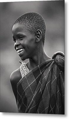 Metal Print featuring the photograph Masai #2 by Antonio Jorge Nunes