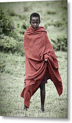 Metal Print featuring the photograph Masai #4 by Antonio Jorge Nunes