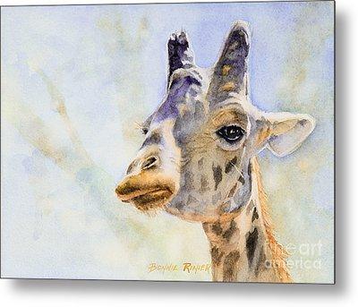 Metal Print featuring the painting Masai Giraffe by Bonnie Rinier