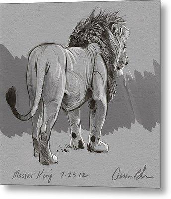 Masai King Metal Print by Aaron Blaise