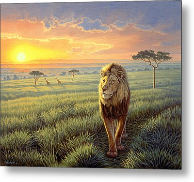 Masai Mara Sunset Metal Print by Paul Krapf
