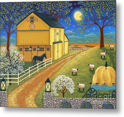 Mascot Mills Barn Metal Print by Mary Charles