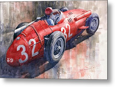 Maserati 250f J M Fangio Monaco Gp 1957 Metal Print by Yuriy  Shevchuk