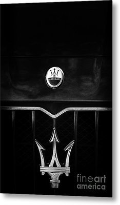 Maserati Quattroporte Monochrome Metal Print by Tim Gainey
