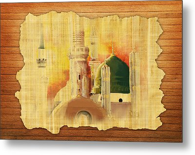 Masjid E Nabwi 02 Metal Print by Catf