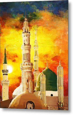 Masjid E Nabwi Metal Print