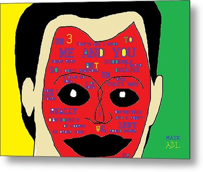 Mask 2 Metal Print by Anita Dale Livaditis