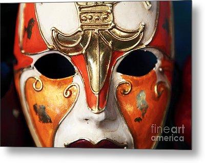 Mask Metal Print by John Rizzuto