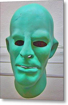 Mask. Next To Charles Bridge. Prague. Czech Republic. Metal Print by Andy Za