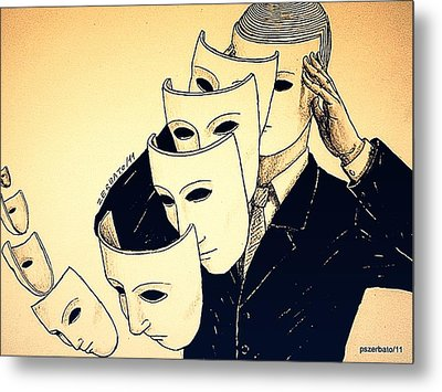 Mask Of Day By Day Metal Print by Paulo Zerbato