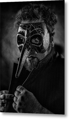 Mask Of The Red Death Metal Print