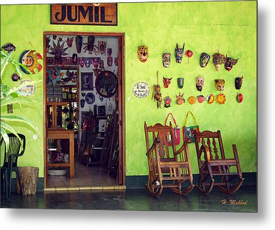 mask shop in Mexico Metal Print by Haleh Mahbod