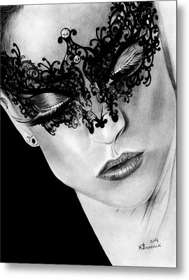Masked Dance Metal Print by Kayleigh Semeniuk