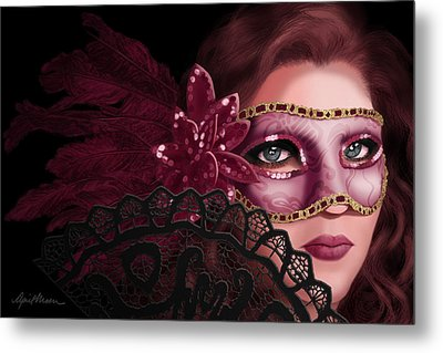 Masked I Metal Print by April Moen