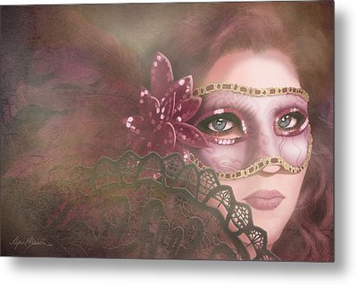 Masked IIi Metal Print by April Moen