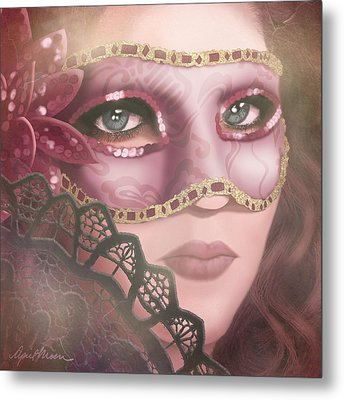 Masked Iv Metal Print by April Moen