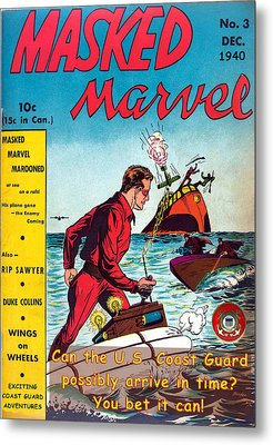 Masked Marvel And The Coast Guard Metal Print
