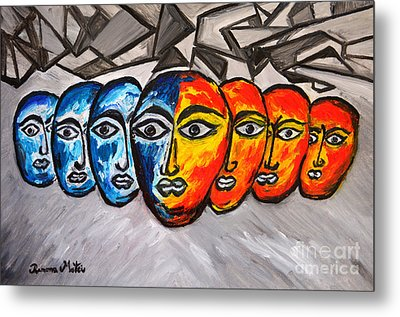 Masks Metal Print by Ramona Matei
