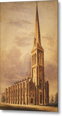 Masonry Church Circa 1850 Metal Print by Aged Pixel