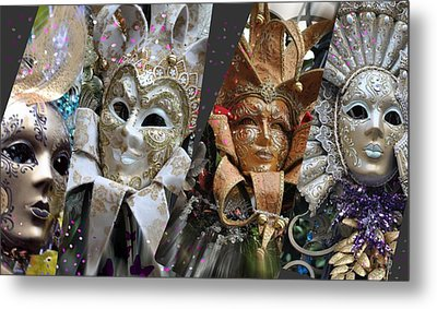 Metal Print featuring the photograph Masquerade Craziness by Amanda Eberly-Kudamik
